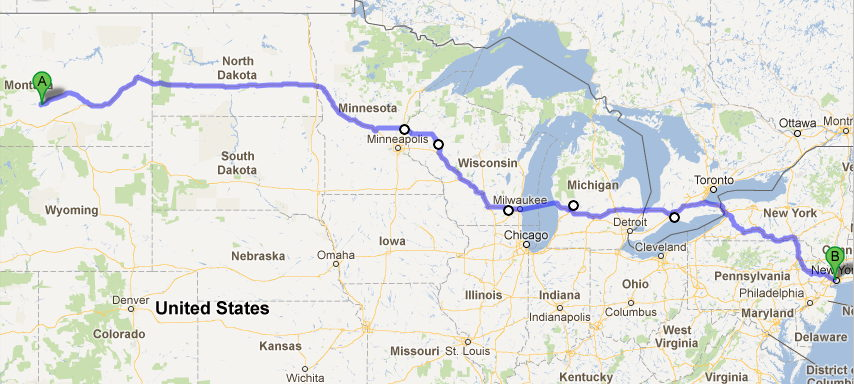Summer Vacation - Map my vacation route